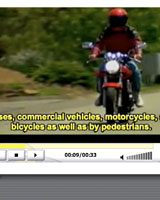 screen shot of a driver ed video